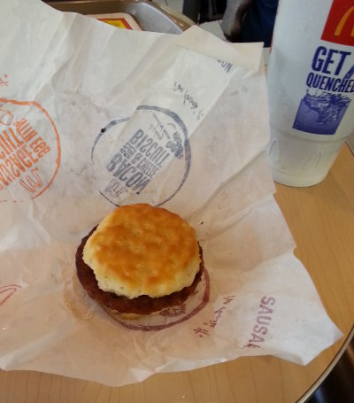 Sausge bicuit from Prescott Valley, Arizona McDonalds