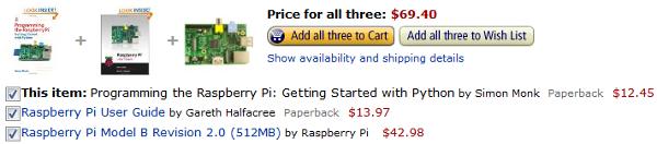 Rasberry Pi + Manual + Python book