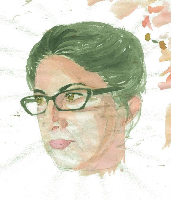 Celia. A watercolor by Kelly