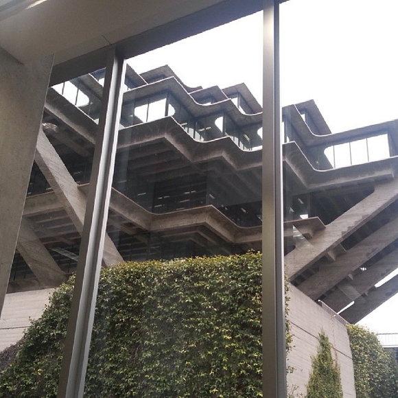Geisel Library UCSD (Christian's PhD recruiting trip)