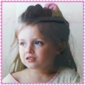 Kelly as a toddler