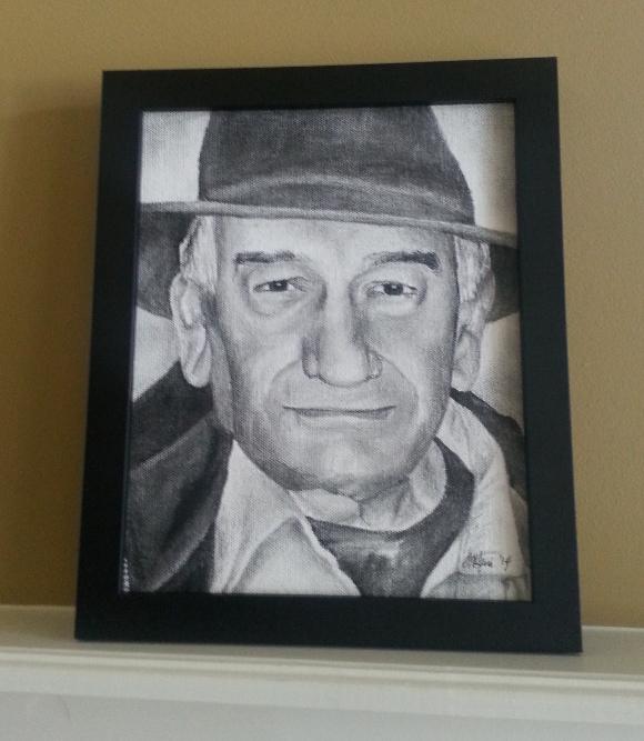 Niece Amy draws Grandpa Lauro