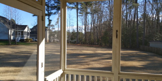 Christmas morning 2014 - View out the screen porch