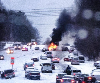 Snow in Raleigh (by NCSU)