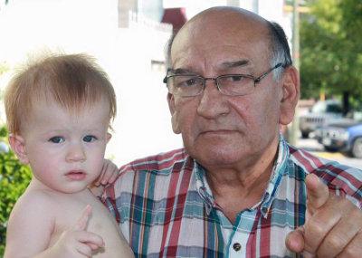 Grandpa Lauro and Mattias
