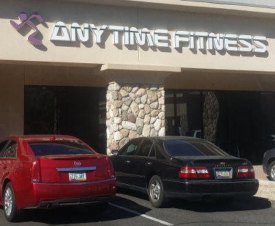 Lorena hits Anytime Fitness in Arizona