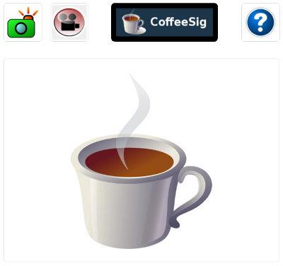 CoffeeSig single camera GUI start