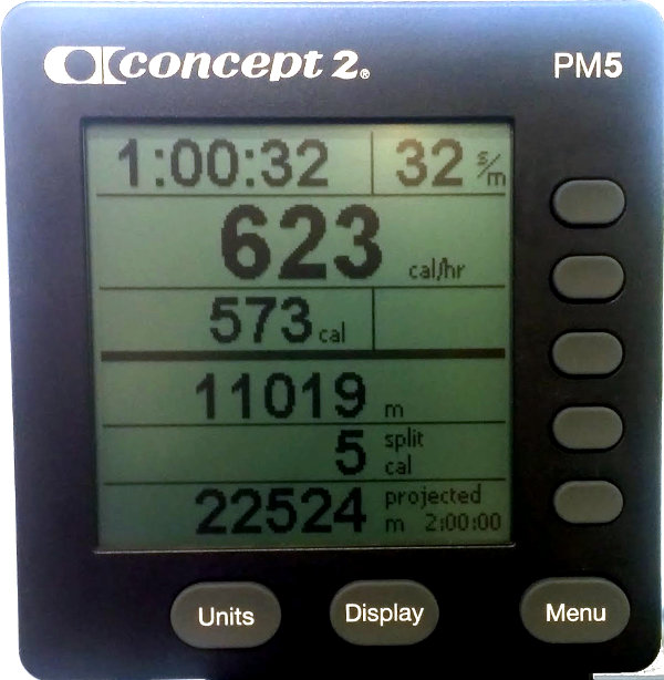 Lorena Concept 2 rower: 11K in one hour