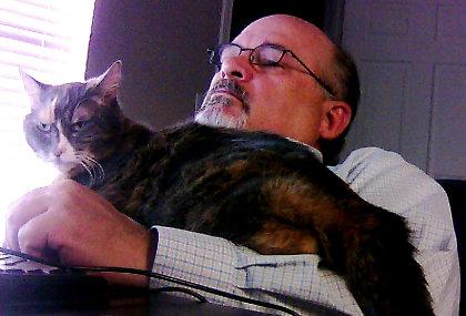 Kiwi and Dad work on GaugeCam together