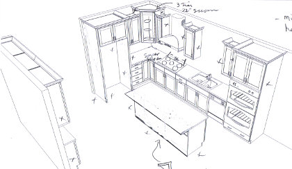 Second pass at the Centralia kitchen design
