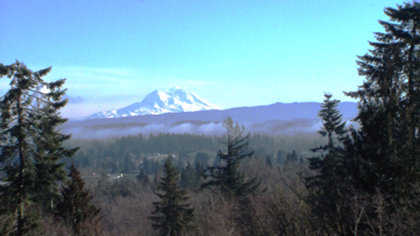 Mount Rainier from the house in Centralia