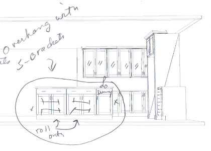 Very preliminary kitchen design