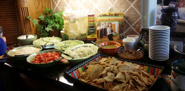 Mexican food at our going away party