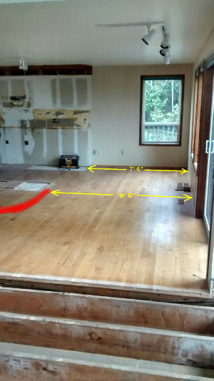 The dining room gets a foot and a half wider with the new design