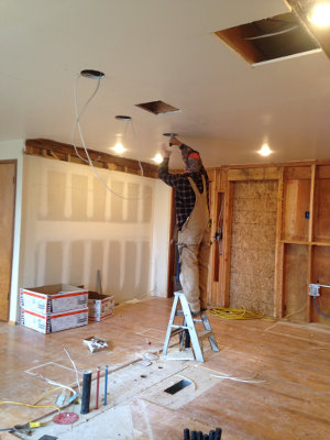 Installing the kitchen lights