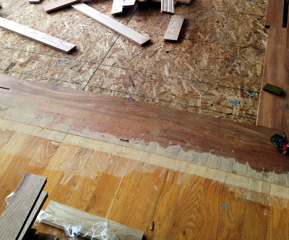Old hardwood floor vs. new hardwood floor accect in living room