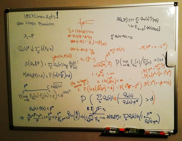 Whiteboard at Christian's apartment ASU April 2017