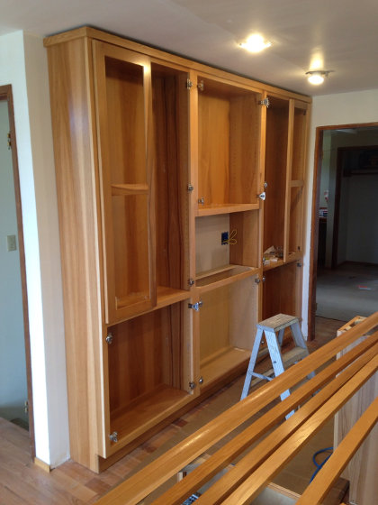 China cabinet and coffee nook