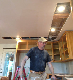 Moving the ceiling lights in the kitchen