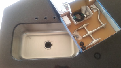 Main sink faucet in the box