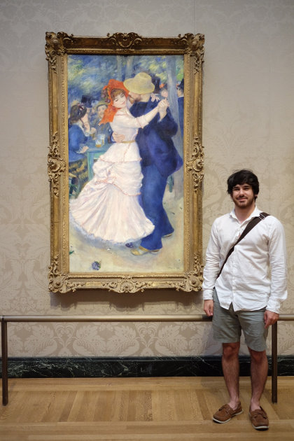 Dance at Bougival, Christian sees the real one at the Museum of Fine Arts in Boston