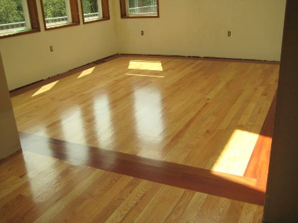 Retouch of floor -- matte to semi-gloss and defect repair
