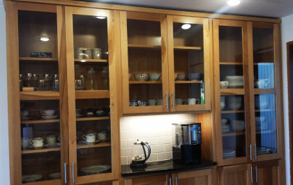 Glass in the cabinets