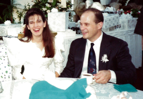 October 10, 1992 at our wedding -- El Tio, Monterrey, Nuevo Leon, Mexico