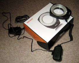 A cheap ring light